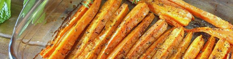 Zanahorias asadas con garbanzos y tahina